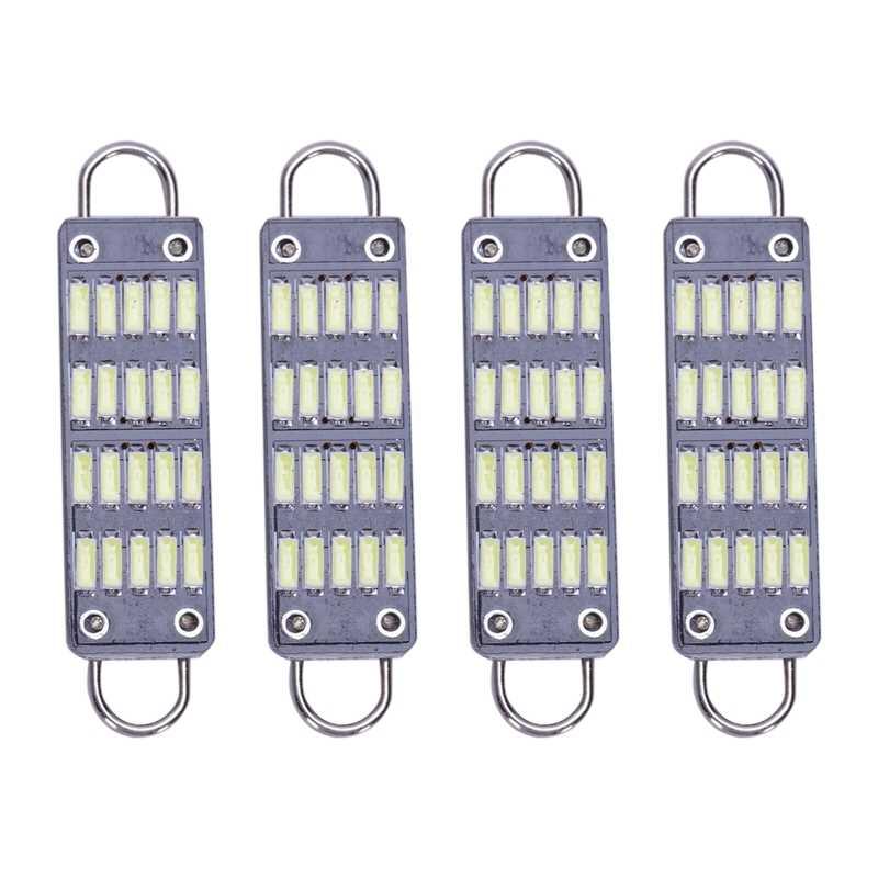 Bohlam 44Mm Terang Putih Memperhiasi Bohlam LED, 20 SMD Kaku Loop 1.73 Inci Interior Dome Peta Lampu LED 561 562 567 564, Paket 4