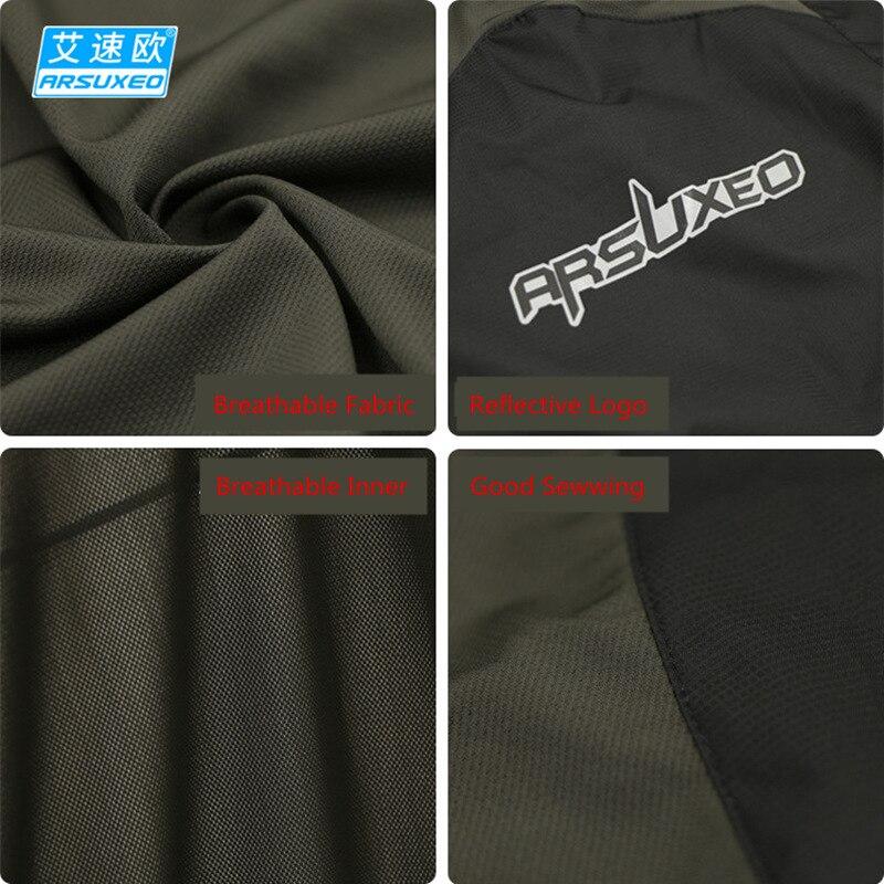 Купить с кэшбэком 2020 New ARSUXEO Cycling Vest Windproof Waterproof MTB Bike Bicycle Vest Cycling Jacket Sport Breathable Reflective Clothing Men