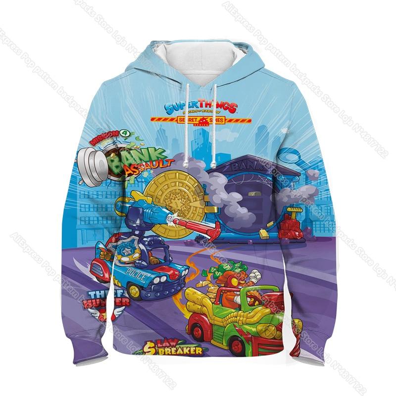 New Super Zings Series 6 Hoodies for Teens Girls Autumn Winter Kids 3D Cartoon Pullover Children Superzings Sweatshirt Boys Tops 24