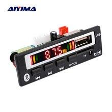 Aiyima decodificador de áudio mp3, bluetooth 5.0, 12v, placa aux usb, tf, rádio fm, leitor de música, decodificação wma wmv ape amplificador de caixa de som diy
