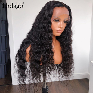 Image 2 - Loose Wave 360 Lace Frontal Wig 250 Density 13x6 Lace Front Human Hair Wigs With Baby Hair Wavy U Part Wig Dolago Remy
