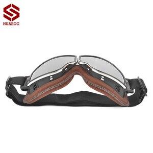 Image 4 - Motocross Goggles Vintage Pilot Roller Helm Brillen Outdoor Steampunk Motorrad Brille für Motorrad Dirt Bike