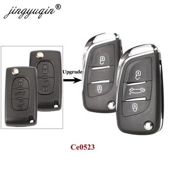 jingyuqin 10x CE0523 Key Case For Peugeot 107 207 307 307S 308 407 607 Citroen C2 C3 C4 2/3 BTN Modified Flip Remote Key Shell