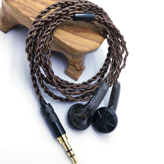 RY4S המקורי ב אוזן אוזניות 15mm מוסיקה באיכות צליל HIFI אוזניות (MX500 סגנון אוזניות) 3.5mm L כיפוף hifi כבל