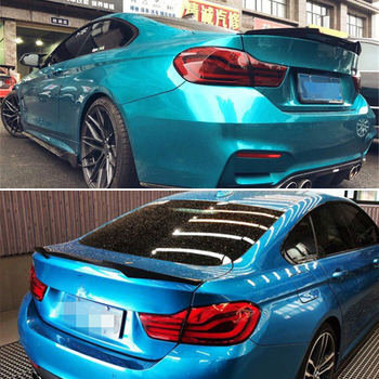 For BMW 4 Series coupe F32 spoiler 2013--2019 year 2-door rear wing M4 style Sport body kit Accessories real carbon fiber image