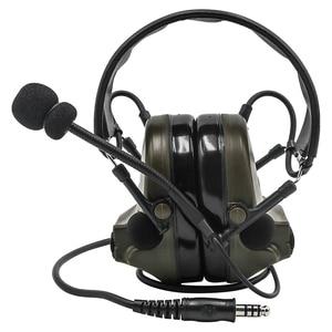 Image 2 - Comtac II Tactical Headset Military headphones Noise Reduction Sound Pickup Ear Protection FG+ U94 PTT Kenwood 2 pin Plug