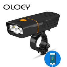 OLOEY Bicycle Light Bike Light 5200mAh Headlight Lamp USB Rechargeable Front Light Night Cycling Waterproof L2 LED FlashLight oloey bicycle light t6 led 5200mah headlight lamp usb rechargeable front light night cycling waterproof bike light flashlight