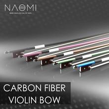 NAOMI Carbon Fiber Violin Bow 4/4 Violin / Fiddle Bow Round Stick W/ Ebony Frog Fast Response Durable Use