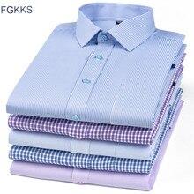 FGKKS, мужская рубашка, длинный рукав, много цветов,, мужские рубашки с отворотом, повседневный мужской топ