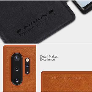 Image 3 - Nillkin מקרה עבור סמסונג הערה 10 בתוספת כיסוי בציר רך עור מפוצל מלא כיסוי Case Flip עבור Samsung Galaxy הערה 10/10 + מקרה