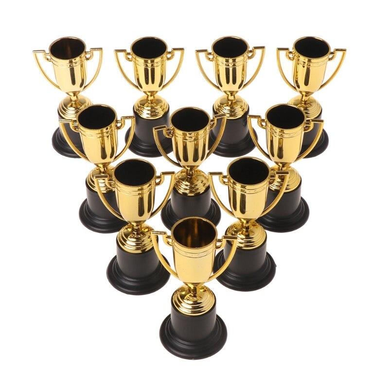 10 pçs copos de ouro troféu esportes