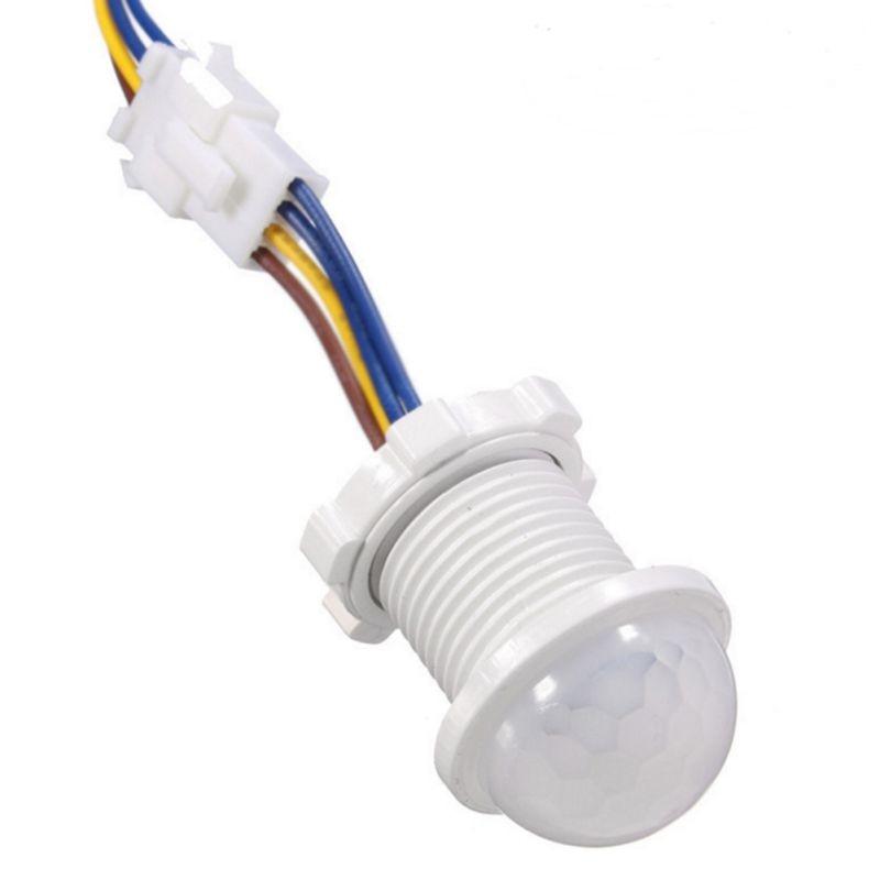 1pcs 40mm Adjustable White Infrared Light Motion Sensor Time Delay Home Lighting PIR Switch Led Sensitive