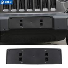 MOPAI License Plate Bracket for Jeep Wrangler JL 2018+ ABS Car Front License Plate Holder for Jeep Wrangler 2019 Car Accessories