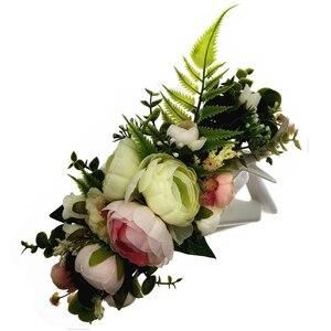 Jueba wieniec kwiatów ślub korona festiwal pałąk kobiety akcesoria do włosów stroik dziewczyna wianek kwiatów ślub kwiatowy nakrycia głowy