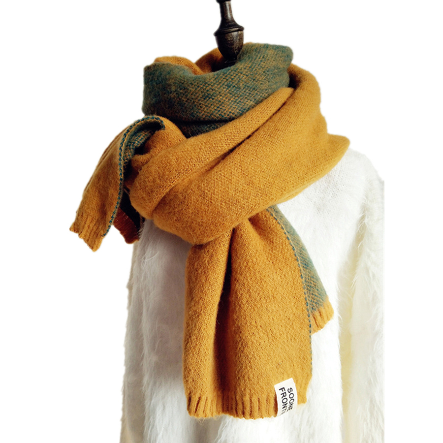 Brand New Double-sided Pineapple Scarves Women Imitation Cashmere Wool Thicken Long Scarf And Wraps Female Winter Fashion Wraps
