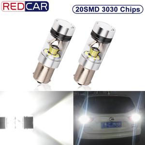 2pcs 1156 BA15S P21W Led Bulb 20SMD 3030 Chips 1200LM 6000K 12V Automobile Lamp Tail Driving Lamp DRL Day Runnight Reverse 100W