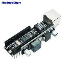RobotDyn W5500 ננו V3 Ethernet רשת מגן עם פסיבי PoE מודול לשימוש עם Arduino Nano
