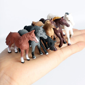 6pcs/set Simulation Wild Animal Toy Plastic Action PVC Model Horse Baby Figure Collection Doll Toy for children Educational toys