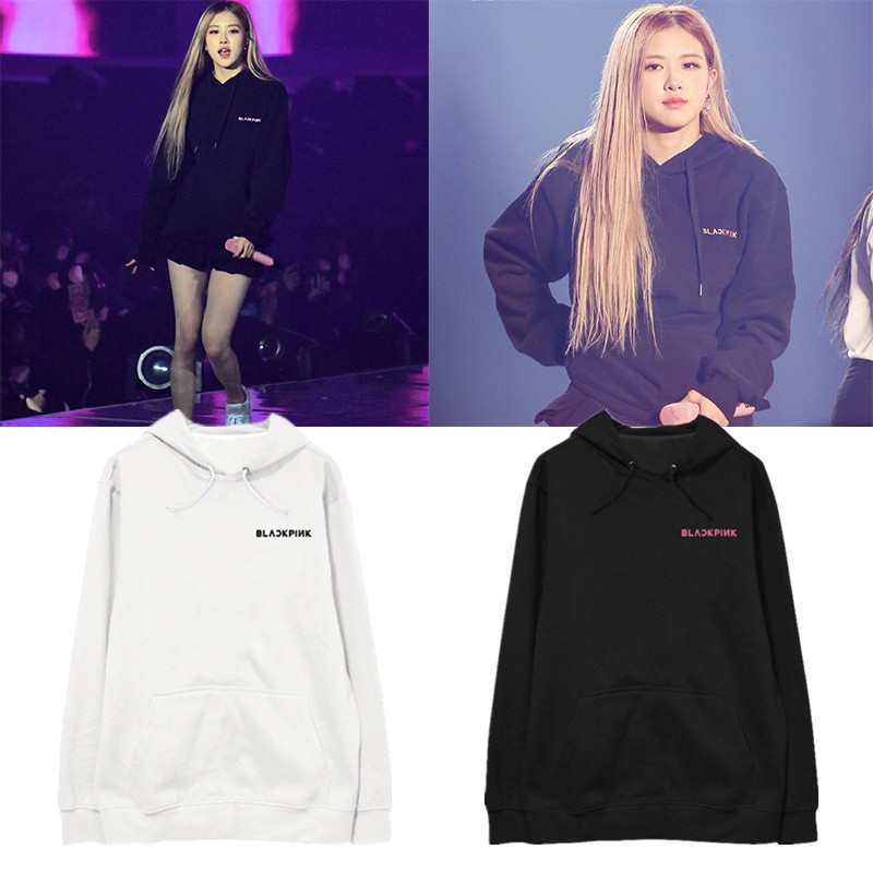 BLACKPINK Hoodie Women Long Sleeve Kpop Hoodies Clothes Sweatshirt Kpop Black Pink Hooded Tops Female Harajuku Streetwear Hiphop