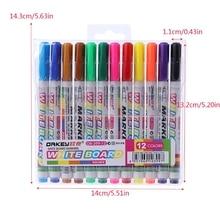 12 цветов маркер для доски нетоксичный знак тонкий Nib набор питания M5TB