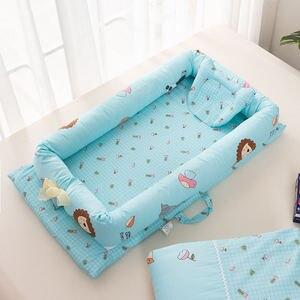 Image 4 - 2 個/3 個ベビー巣ベッドベビーベッドポータブルリムーバブルと洗えるベビーベッド旅行ベッド子供のマットレス