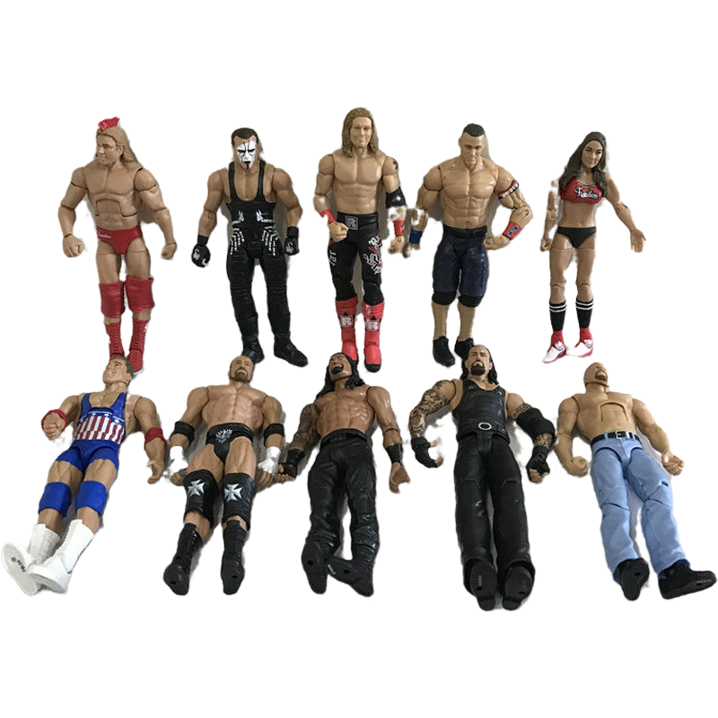 High Quality Wrestler Action Figure Toys Wwe Characters Occupation Wrestling Gladiators For Children Gifts Action Figures Aliexpress