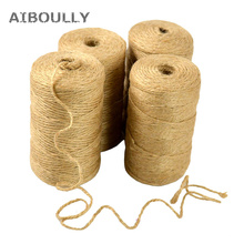 DIY Jute Twine 100M Natural Sisal 2mm Rustic Tags Wrap Wedding Decoration Crafts Twisted Rope String Cord Events Party Supplies