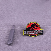 Jurassic Park Emaille Pin Science Fiction Adventure Movie Limited Edition Broche Tas Hoed Revers Badge(China)