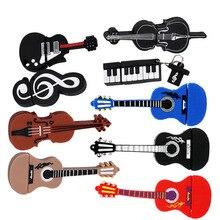 Usb-2.0 Flash-Drive Memory-Stick U-Disk Musical-Pen 16GB 8GB Violin Cute Guitar Cartoon