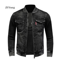 Stand Collar Bomber Pilot Black Corduroy Jacket Men Coats Motorcycle Slim Casual Clothing Overcoat Outwear Ropa Hombre