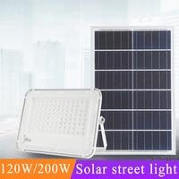 120W Led Solar Street Lights Waterproof IP67 Outdoor Road Garden Led White Solar Lighting For Path Garden Street Solar Lamp