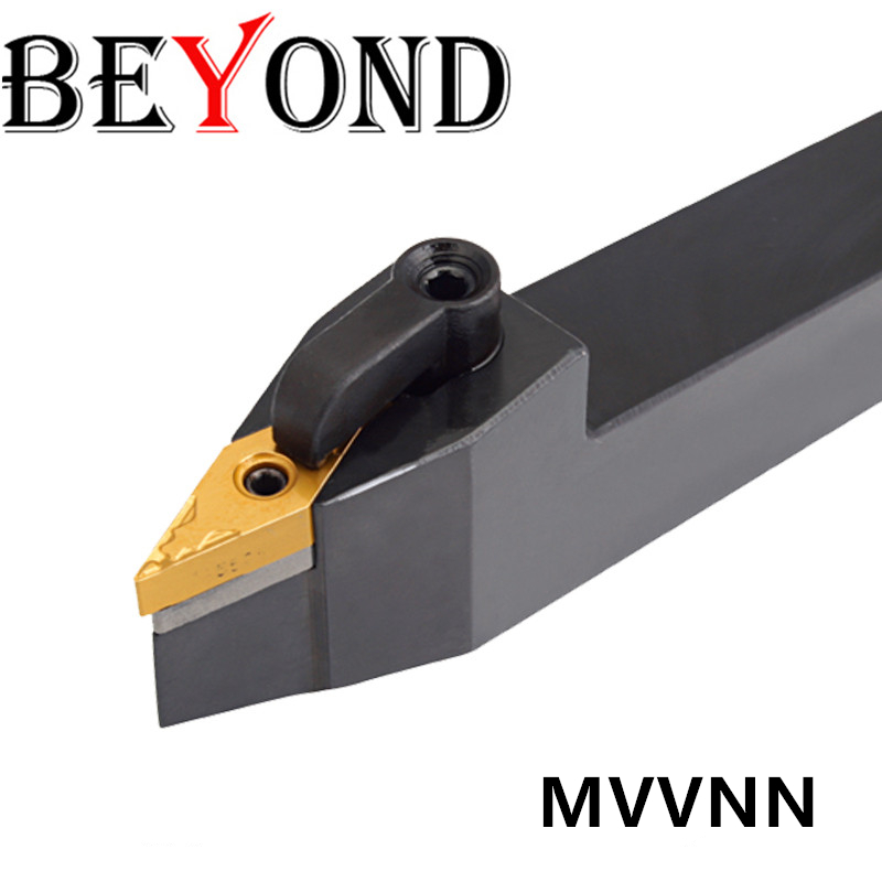 BEYOND MVVNN MVVNN2525M16 MVVNN2020K16 Lathe Tool Holder External Turning Tools MVVNN1616K16 Carbide Inserts VNMG CNC Boring Bar