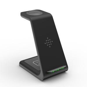 Image 4 - 3 in 1 10W 빠른 무선 충전기 아이폰 11 프로 X 충전기 도킹 스테이션 애플 시계 4 5 Airpods 무선 충전기 스탠드