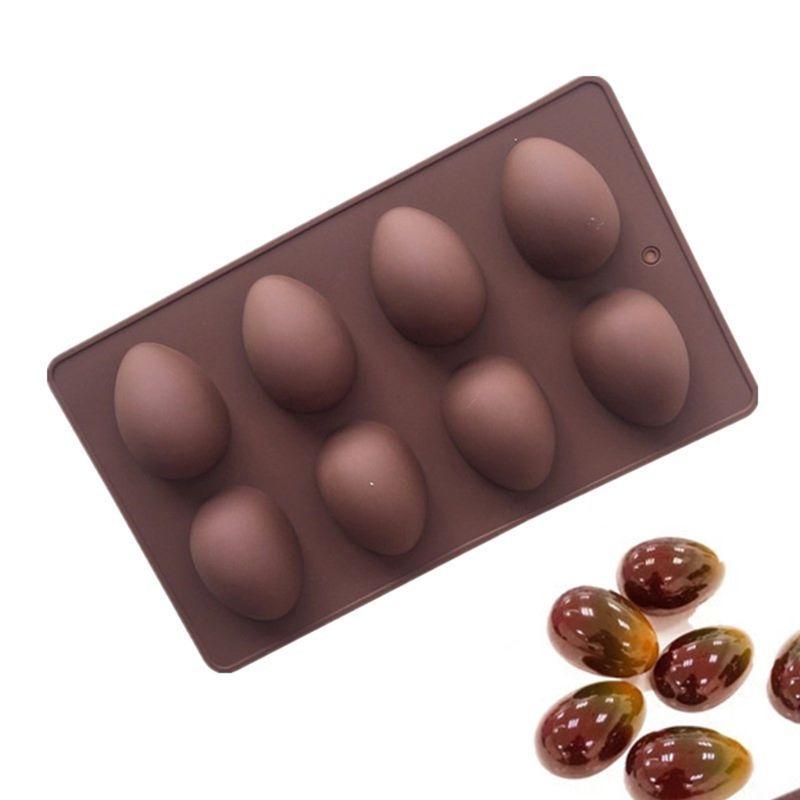 8 Easter Egg Shape Cake Soap Mold Silicone Mould Chocolate Decoration Baking Decorating Tools 10166