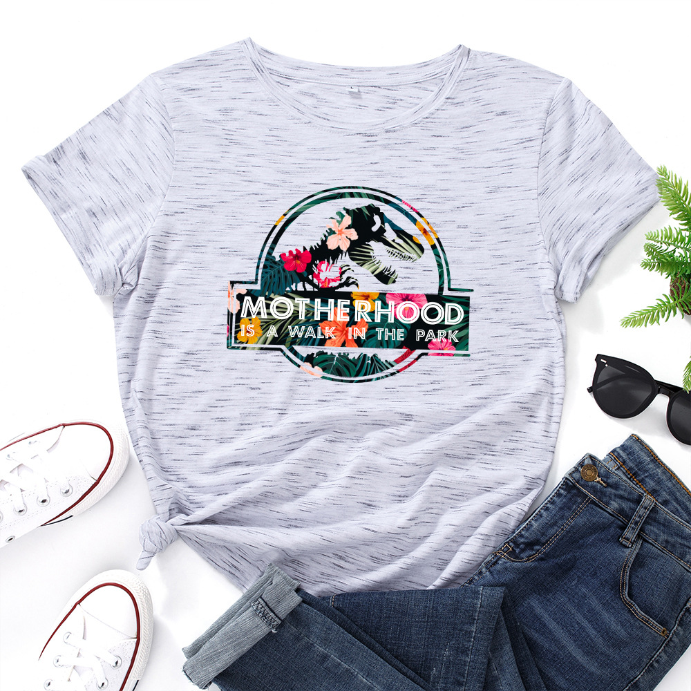 JFUNCY Casual Cotton T-shirt Women T Shirt Motherhood Letter Printed Oversized Woman Harajuku Graphic Tees Tops 11