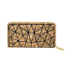KAOGE Luxury Ladies Wallets Multi-card Bit Money Bag Long Handbag Fashion Purse Zipper Style Mature Women Wallet Diamond Pattern