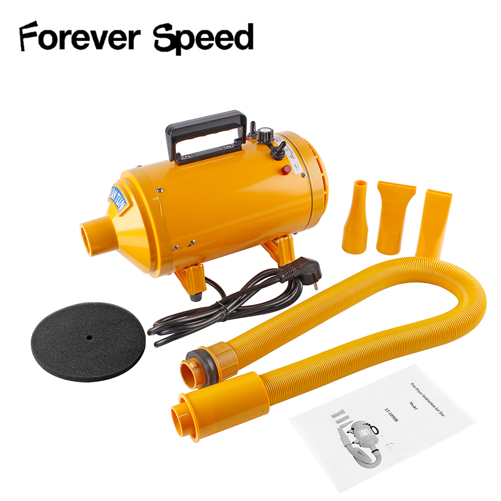 2400w 2600w Professional Dog Dryers Pet Hair Dryer Adjustable Cat Grooming Air Blower Adjustable Temperature With 3 Nozzles