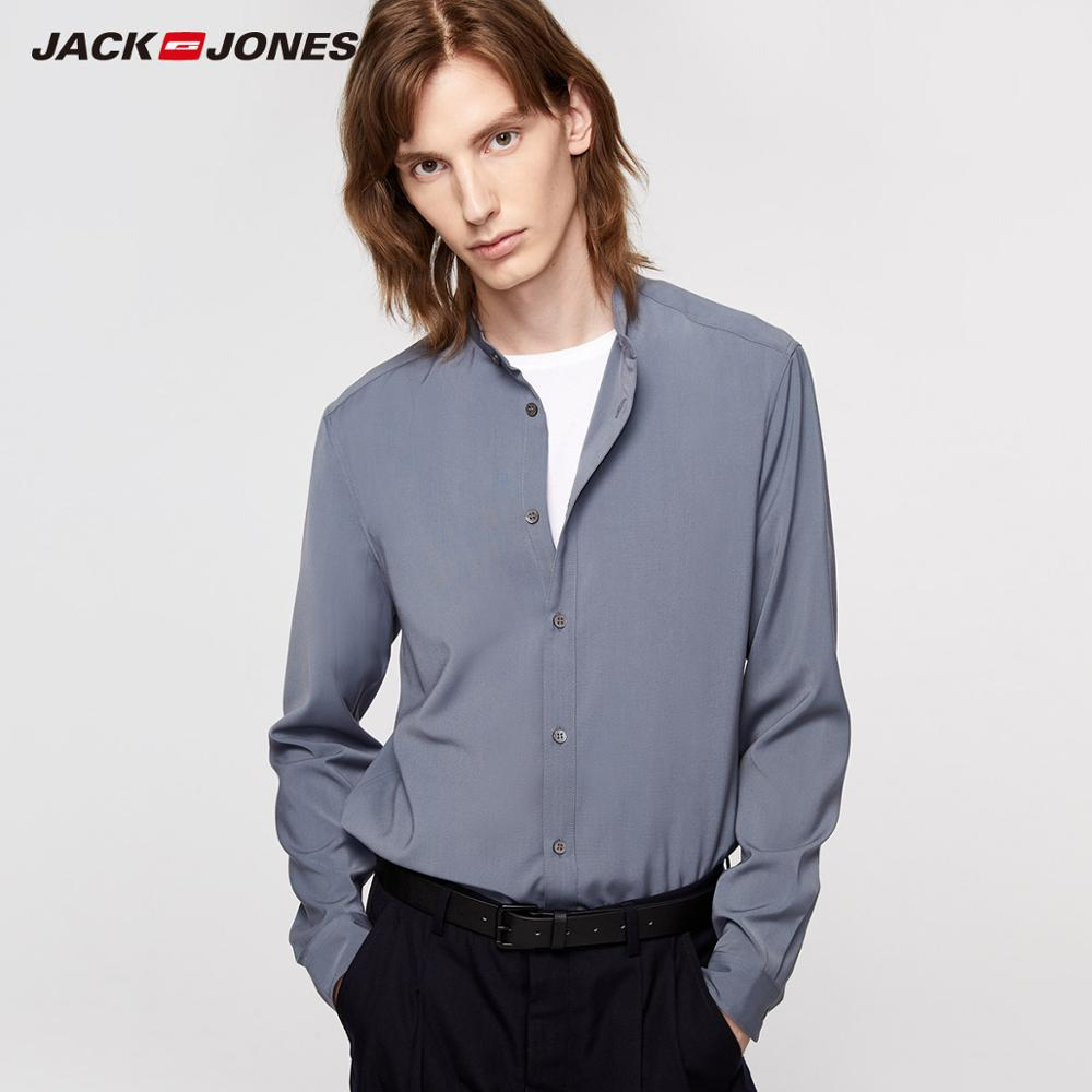 JackJones Straight Fit Fashion Business Casual Men's Shirt Long-sleeved Comfortable Male Shirt Menswear| 219305534