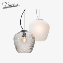 Modern Glass Pendant Lights LED Hanging Lamp E27 Pendant Lamp Lighting Living Room Bedroom Dining Room Kitchen Hanging Lights