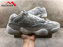 Novo xpay tênis de corrida ar 350 deserto rato 500 yy 700 sombra sal preto suave visão pedra osso branco zapatos mujer respirável