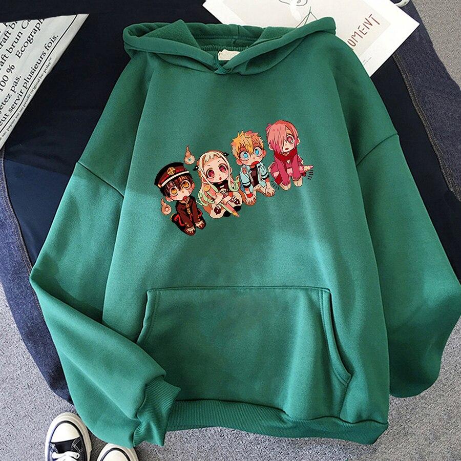 Jibaku Shounen Hanako kun Harajuku Womens Hoodie Fashion Fleece Hoodies Casual Clothes Street Loose Female Sweatshirt 12