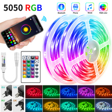 Diode-Tape Strip-Light Power-Adapter Led Ribbon Bluetooth-Controller Waterproof Rgb 5050 Rgb