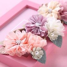 20 шт/лот детские цветочные повязки для детей девочек шифоновые