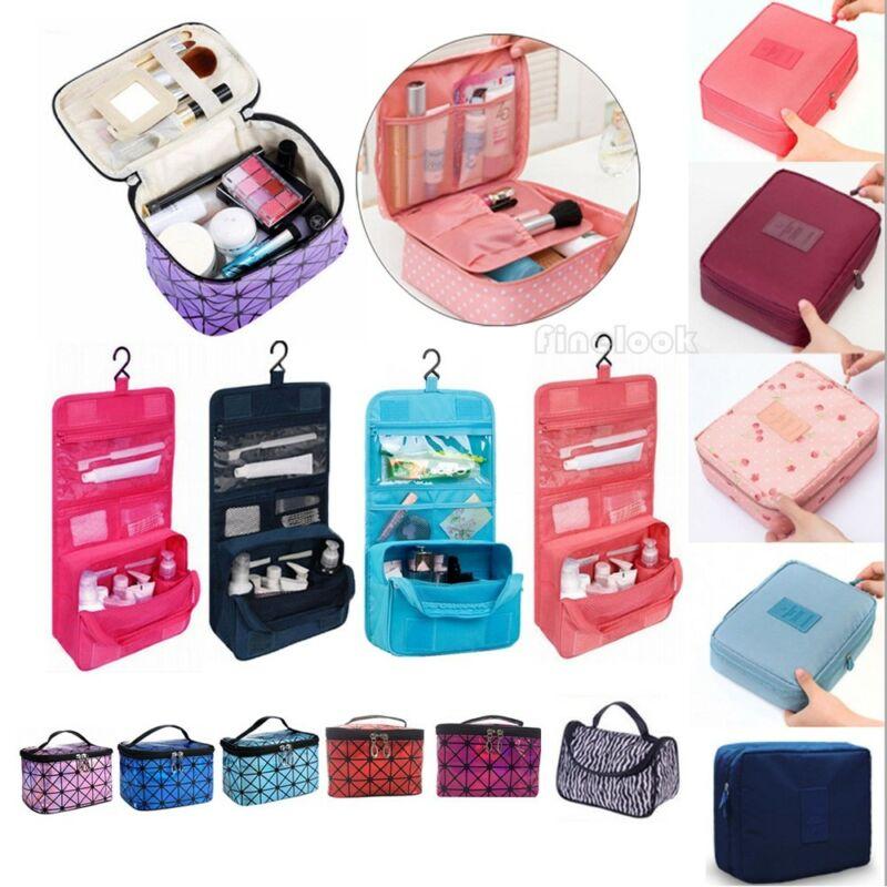 Ladies Wash Bag Toiletry Cosmetic Travel MakeUp Hanging Folding Organizer AU