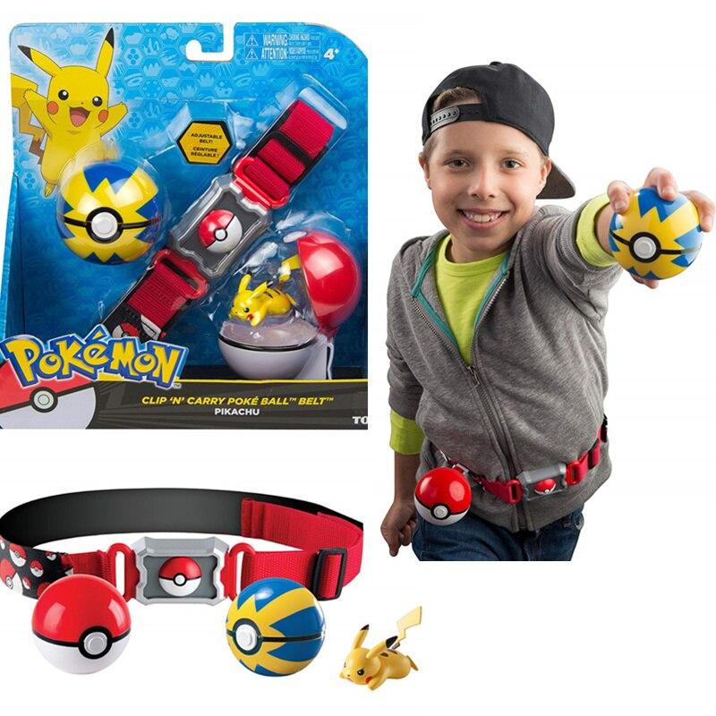 2019 Genuine US Version Pokemon Master Elf Ball Belt Set Telescopic TAKARA TOMY Toys For Children Gift