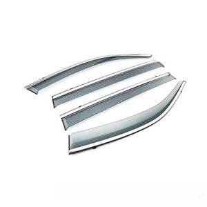 Image 1 - 4Pcs Auto Fenster Visier Tür Regen Sonne Schild Seite Windows Abdeckung Trim Auto Zubehör Für Volkswagen Teramont