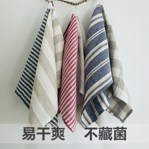 Image 4 - 100% LINEN TOWEL Antibacterial Antibacterial and Moisture Absorbing and Quick Drying Soft Breathable Green Fashion 9 colors
