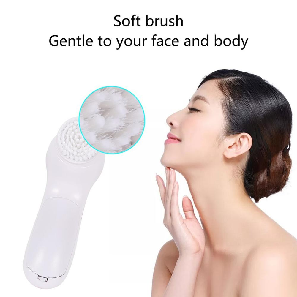 Vibration Cleansing Brush Electric Rotating Facial Cleansing Brush USB Deep Pore Cleaning Skin Care Tool Beauty 2