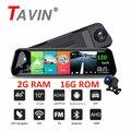 Автомобильный видеорегистратор Android 8,1, Автомобильный видеорегистратор 4G, Wi-Fi, ADAS, GPS, зеркало заднего вида, двойной объектив 1080P, 10-дюймовый с...