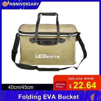 40cm 45cm składane na zewnątrz EVA wiadro torba wędkarska Case przenośne Camping piesze wycieczki wiadro z uchwytem tanie i dobre opinie Inne Wielofunkcyjny Jedna warstwa Fishing Bag